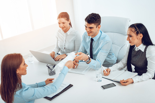 Job Interview people Stock Photo 04