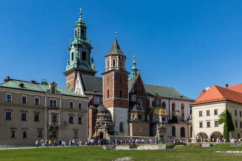 Krakow cityscape Poland Stock Photo 01