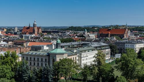 Krakow cityscape Poland Stock Photo 02