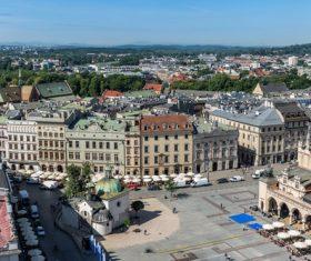 Krakow cityscape Poland Stock Photo 03