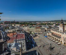 Krakow cityscape Poland Stock Photo 04
