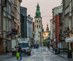 Krakow cityscape Poland Stock Photo 07
