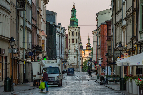 Krakow cityscape Poland Stock Photo 07