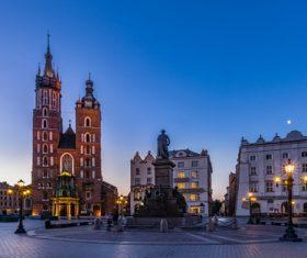 Krakow cityscape Poland Stock Photo 08