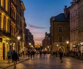 Krakow cityscape Poland Stock Photo 09