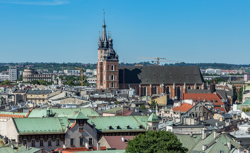 Krakow cityscape Poland Stock Photo 11