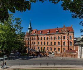 Krakow cityscape Poland Stock Photo 12