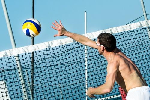 Leisure beach volleyball Stock Photo 01