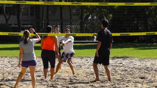 Leisure beach volleyball Stock Photo 02