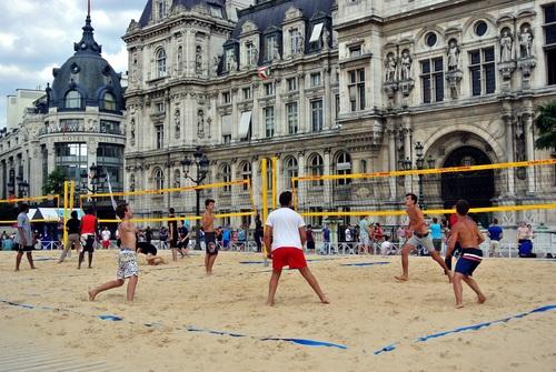 Leisure beach volleyball Stock Photo 08