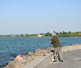 Leisure fishing Stock Photo 06