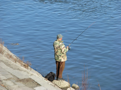 Leisure fishing Stock Photo 07