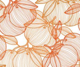 Lines fruit seamless pattern vectors 04