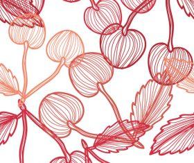Lines fruit seamless pattern vectors 05