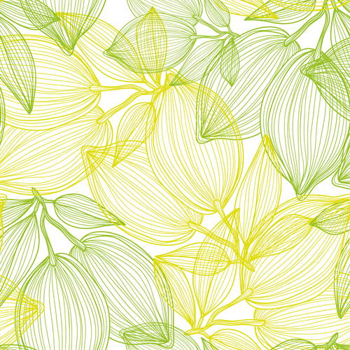 Lines fruit seamless pattern vectors 06