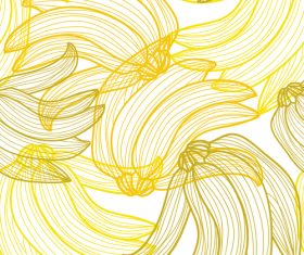 Lines fruit seamless pattern vectors 08