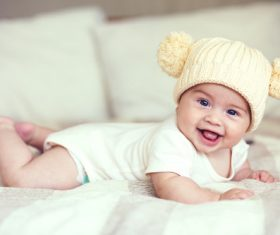 Lively and lovely baby Stock Photo 01