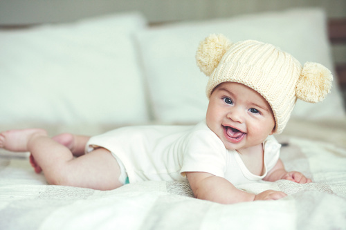 Lively and lovely baby Stock Photo 03