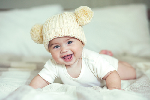 Lively and lovely baby Stock Photo 08