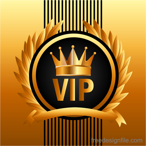 Luxury VIP background design vector 04