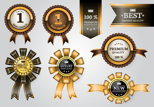 Luxury banner with badge vector