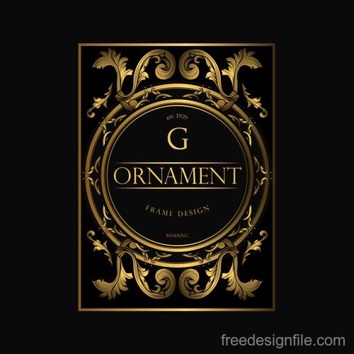 Luxury golden ornament frame vectors 01