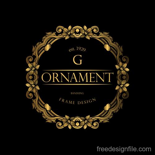 Luxury golden ornament frame vectors 03
