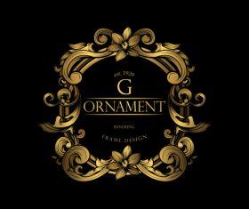 Luxury golden ornament frame vectors 04