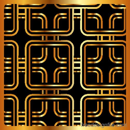 Luxury golden vector seamless pattern vector 04