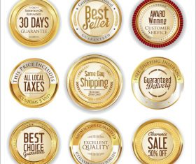Luxury retro badge and labels vectors 01