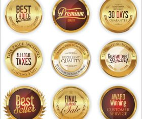 Luxury retro badge and labels vectors 02
