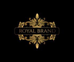 Luxury royal logo design vectors 01