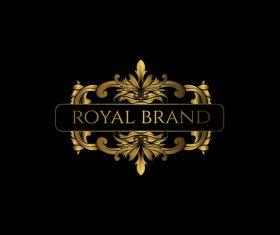 Luxury royal logo design vectors 03