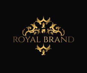 Luxury royal logo design vectors 04