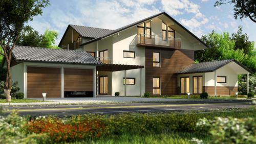 Luxury villa with beautiful landscape Stock Photo 02