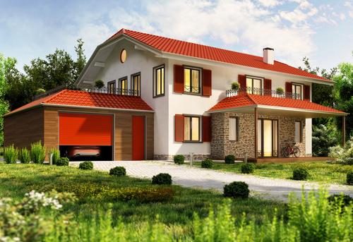 Luxury villa with beautiful landscape Stock Photo 03