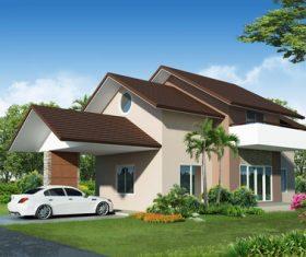 Luxury villa with beautiful landscape Stock Photo 04