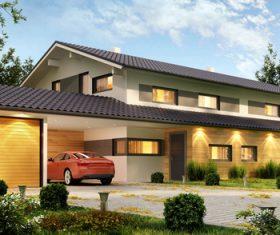 Luxury villa with beautiful landscape Stock Photo 05