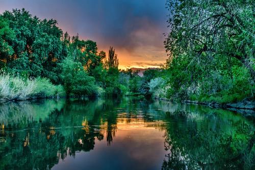 Magical beautiful natural scenery Stock Photo 07