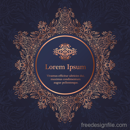Mandala ornaments with vintage background vector 04