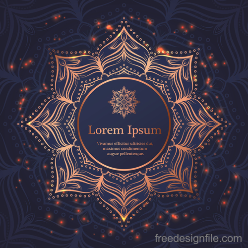 Mandala ornaments with vintage background vector 06