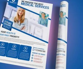 Medical Services Flyer and Poster PSD Template