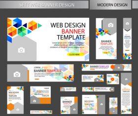 Mega banner design vectors 02