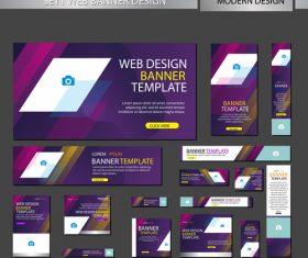 Mega banner design vectors 03