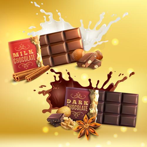 Milk chocolate poster vector design