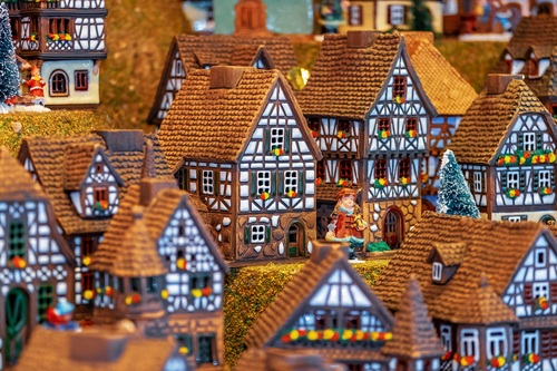 Miniature house building Stock Photo