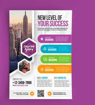 Modern Business Flyer and Poster PSD Template