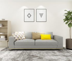 Modern and simple home design Stock Photo 09