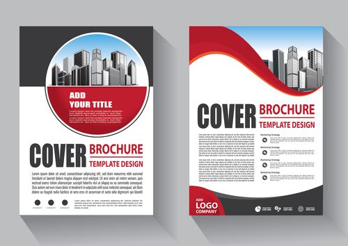 Modern cover brochure template design vector 01