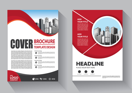 Modern cover brochure template design vector 03